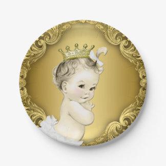 Elegant Princess Baby Shower 7 Inch Paper Plate