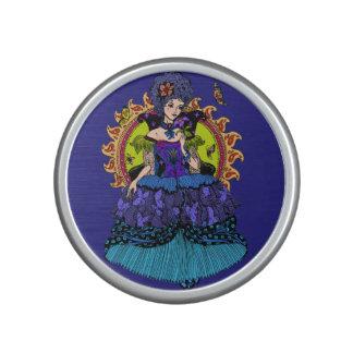 Elegant princess illustration with butterfly bluetooth speaker