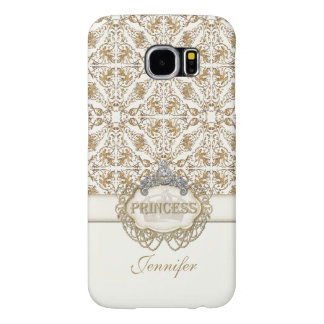 Elegant Princess Jewel Bling Crown Personalized Samsung Galaxy S6 Cases