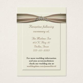 Elegant Princess Wedding Enclosure Cards