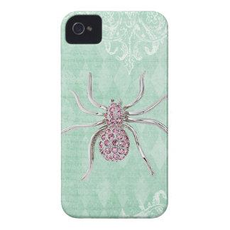 Elegant Printed Jewel Spider Vintage Shabby Chic Case-Mate iPhone 4 Cases