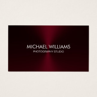 Elegant Professional Black Lawyer Red Brilliant Business Card