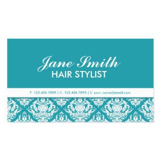 Elegant Professional Cosmetologist Damask Floral Pack Of Standard Business Cards