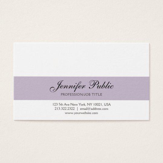 Elegant Professional Creative Design Violet Modern Business Card