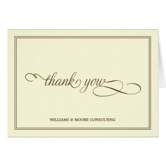Elegant Professional Folded Thank You Card