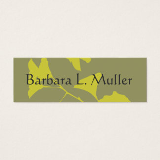 Elegant Professional Glowing Ginkgo Leaves Mini Business Card