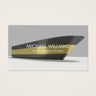 Elegant Professional Gold Black Boat Publicity Business Card