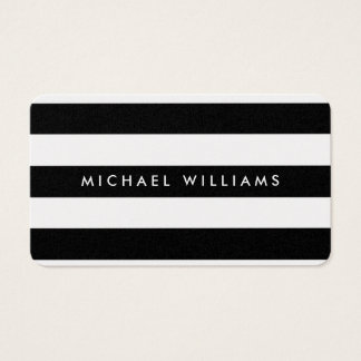 Elegant professional golden black and white zebra business card