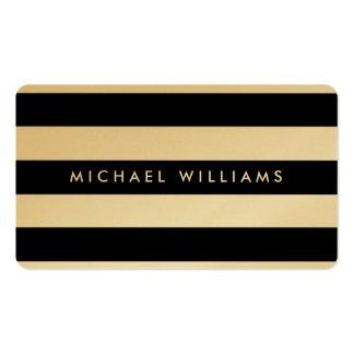 Elegant professional golden black and white zebra pack of standard business cards