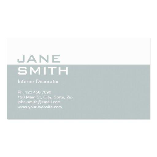 Elegant Professional Interior Design Decorator Business Cards