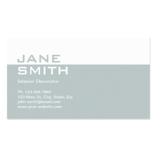 Elegant Professional Interior Design Decorator Pack Of Standard Business Cards