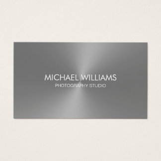Elegant Professional Lawyer Silver Business Card