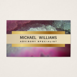 ELEGANT PROFESSIONAL MINERAL CRYSTAL GEODA BUSINESS CARD