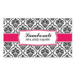 Elegant Professional Modern Damask Floral Pattern Pack Of Standard Business Cards