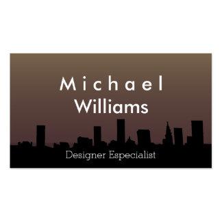 ELEGANT PROFESSIONAL MODERN NIGHT URBANO CITY PACK OF STANDARD BUSINESS CARDS