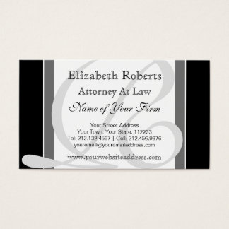 Elegant Professional Monogram R Black and Gray Business Card
