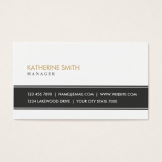 Elegant Professional Plain Simple Black and White Business Card