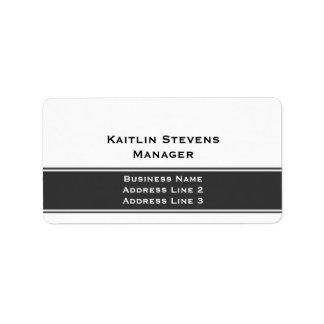 Elegant Professional Plain Simple Gray and White Address Label