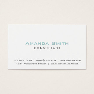Elegant Professional Plain White Makeup Artist Business Card