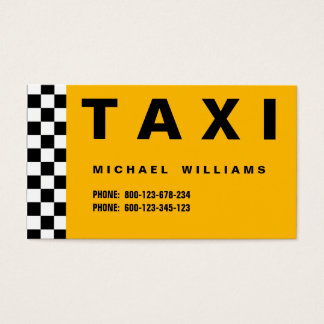 ELEGANT PROFESSIONAL SIMPLE METAL TAXI TAXI DRIVER BUSINESS CARD