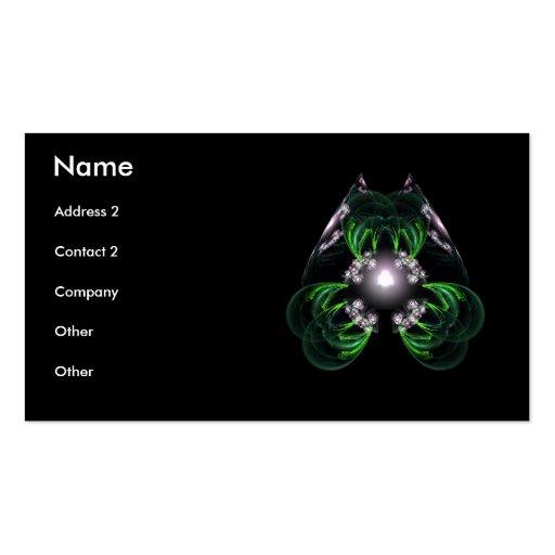 Elegant Profile Card - Tres Line - Customized Business Card Templates