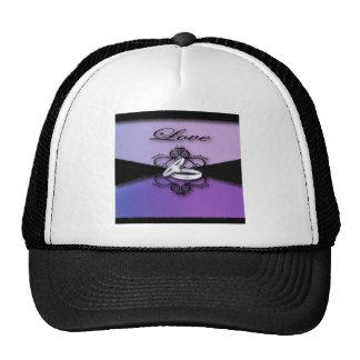 Elegant Purple Black Wedding Cards &Favor Cap
