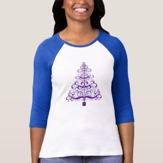 Elegant Purple Blue Christmas Tree T Shirt