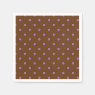 elegant purple brown polka dots disposable napkins