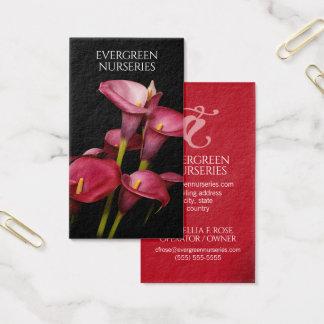 Elegant Purple Calla Lilies Business Card