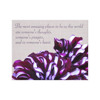 Elegant purple dahlia flower positive energy decor