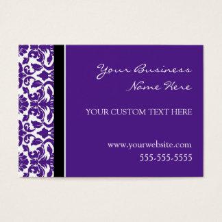 Elegant Purple Damask Business Cards