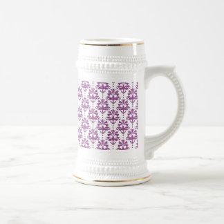 Elegant Purple Damask Pattern Mugs