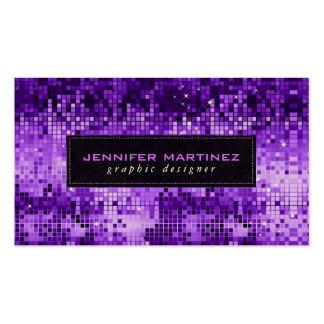 Elegant Purple Disco Ball Glitter & Sparkles Pack Of Standard Business Cards
