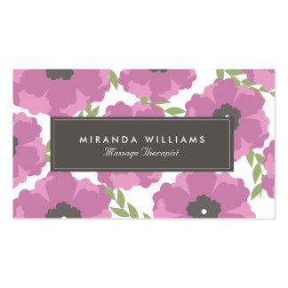 Elegant Purple Floral Business Cards