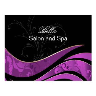 elegant purple flourishbusiness ThankYou Cards Postcard