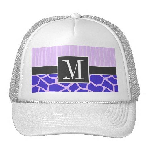 Elegant Purple Giraffe Pattern Hat