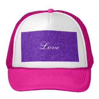 Elegant Purple Glitter Look Texture Cap