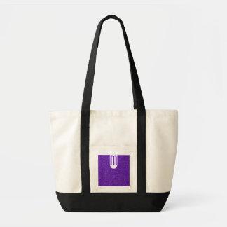 Elegant Purple Glitter Look Texture Tote Bag