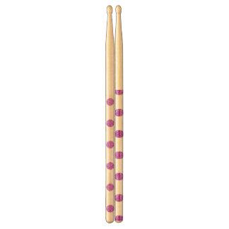 Elegant Purple Glitter Polka Dots Pattern Drumsticks