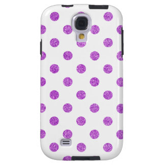 Elegant Purple Glitter Polka Dots Pattern Galaxy S4 Case