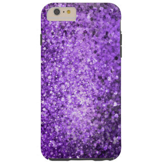 Elegant Purple Glitter & Sparkles Tough iPhone 6 Plus Case