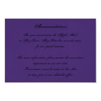 "Elegant Purple Gothic Night Posh Wedding Insert 3.5"" X 5"" Invitation Card"