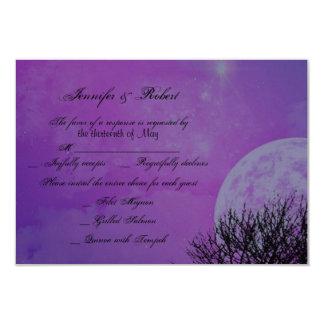 "Elegant Purple Gothic Posh Wedding Response Card 3.5"" X 5"" Invitation Card"