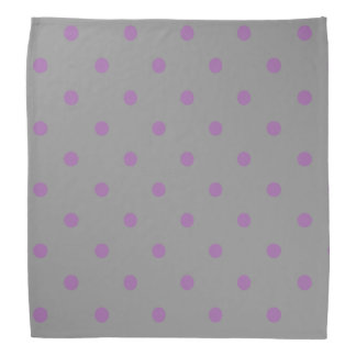 elegant purple grey polka dots bandana