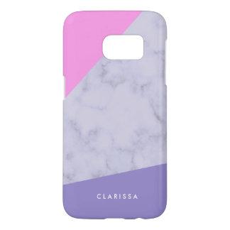 elegant purple marble pink purple color block