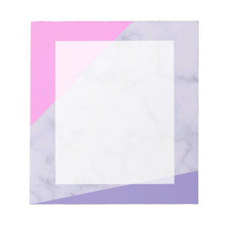 elegant purple marble pink purple color block notepad