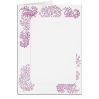 Elegant purple middle eastern motif invite greeting card