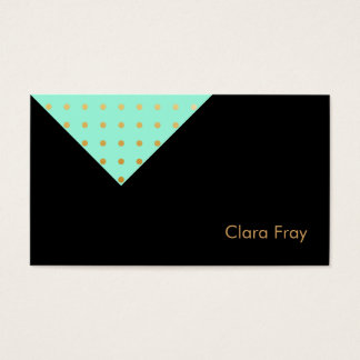 elegant purple mint polka dots business card
