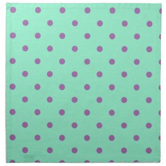 elegant purple mint polka dots napkin