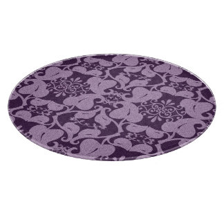 Elegant Purple Pattern Cutting Board